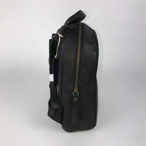 b60fe3d87 American Leather Company Bags - American Leather Black Floral Embossed  Backpack